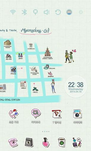 玩免費個人化APP|下載首尔热门去处,明洞 桌面主题 app不用錢|硬是要APP