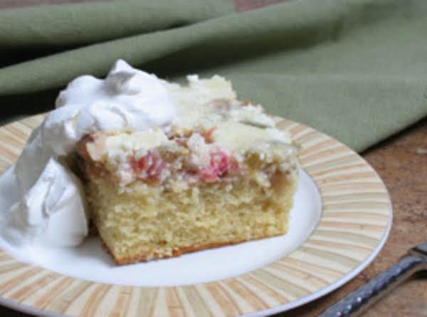 Rhubarb Custard Upside Down Cake Recipe