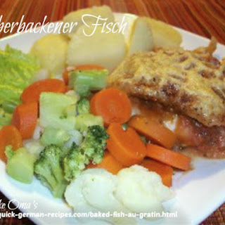 Baked Fish Au Gratin Recipe