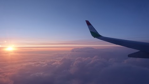 Sunset on the flight to Tajikistan.