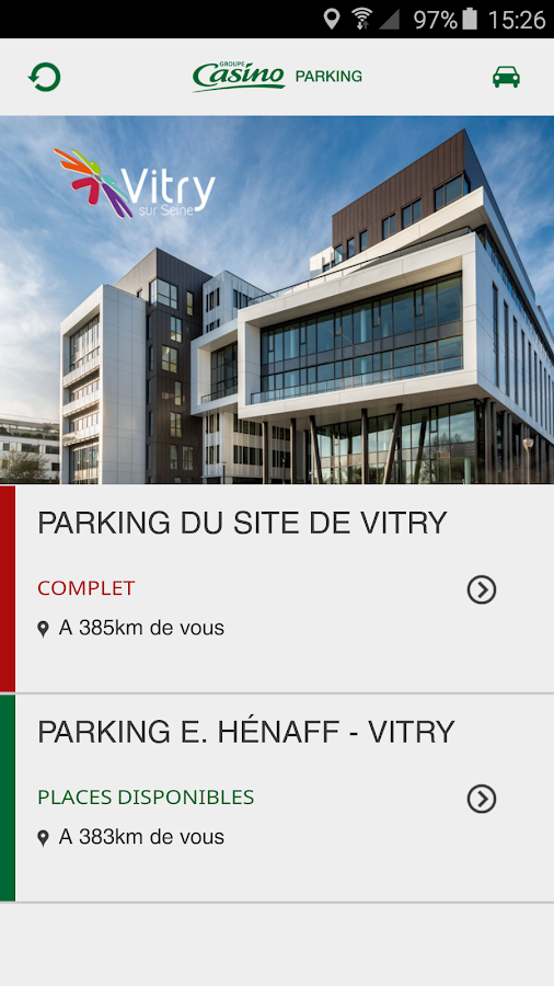 MyParking site de Vitry- screenshot