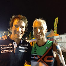 Photo: Hanging with 3rd place finisher Sebastian Kienle after the race