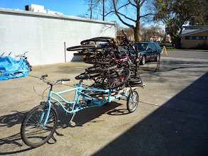 Photo: First use of the MMU for hauling a bunch of bicycles.