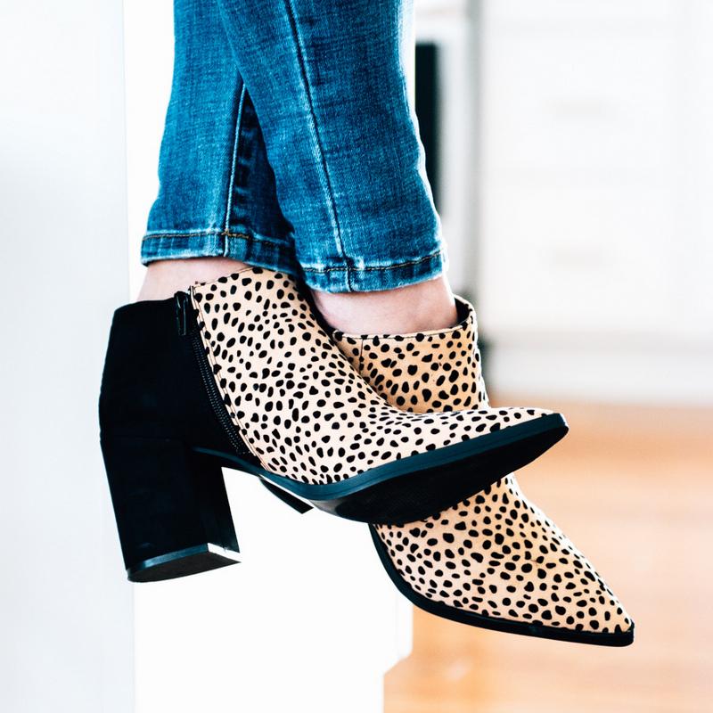 Kristin Leopard Booties