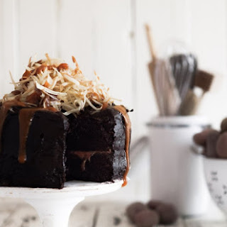Salt & Vinegar Chips Topped Chocolate Cake