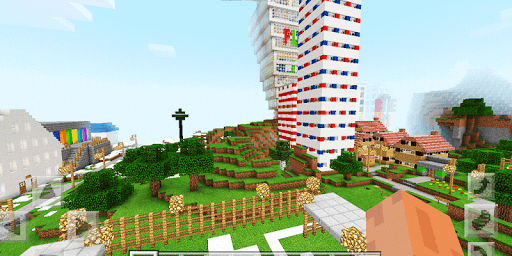 Peaceland Origins. Map for MCPE for PC