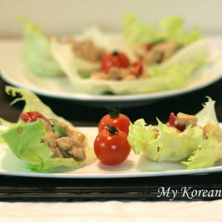 Asian Chicken Lettuce Wraps Recipe