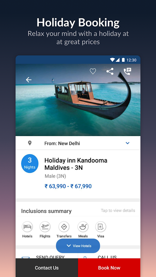 Screenshots of MakeMyTrip-Flights Hotels Cabs for iPhone
