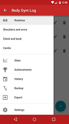 Redy Gym Log, Exercise Tracker screenshot 3