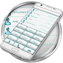 Dialer FrameWhite Aqua Theme icon
