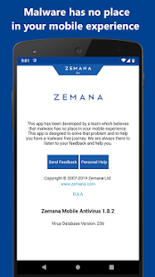 Zemana Antivirus 2019: Anti-Malware & Web Security Screenshot
