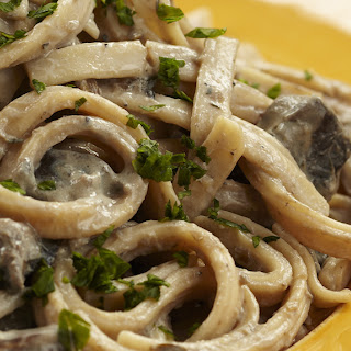 Chef Del's Mushroom Stroganoff.