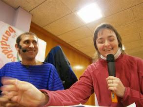 Photo: Entrevista a Sandrá Araguás durante el programa sobre Cuentacuentos.