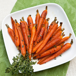 Roasted Baby Carrots With Orange & Honey