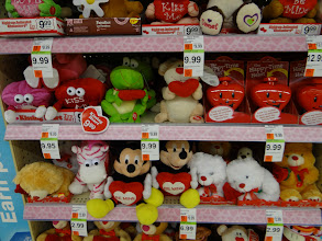 Photo: I saw the cutest teddy bears! I was shopping with Hayley so I could not pick it up right then, but I am going to return to get Hayley a Mickey Mouse Be Mine Bear.