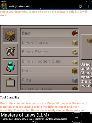 Crafting Guide For Minecraft screenshot