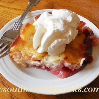 CHERRY CREAM CHEESE COBBLER.