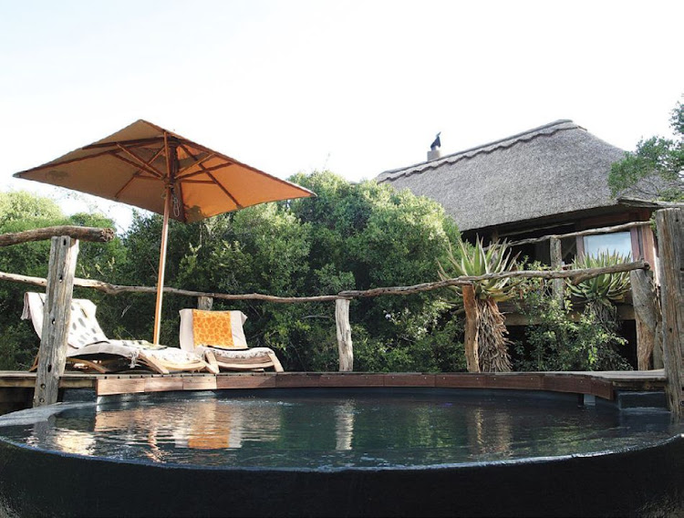 Relax at the pool at Pumba Private Game Reserve and Spa (and remember to pack suncream)
