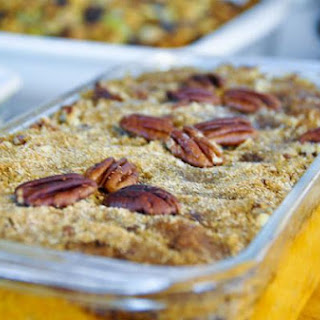 Sweet Potato Casserole with Pecan Crumble Topping