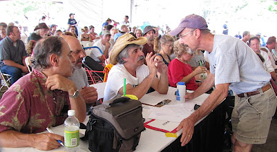 Photo: The Judges: Gene Lowinger, Bob Green, Ambrose Verdibello - and Dave Angell- Photo by Fred Robbins