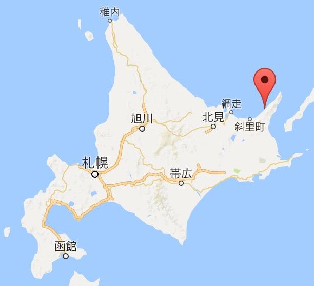 地図:そば処福住斜里店