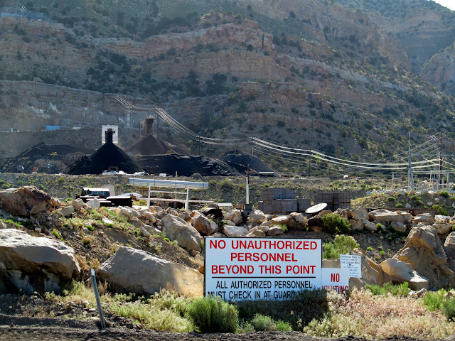 Entrance to the mine property