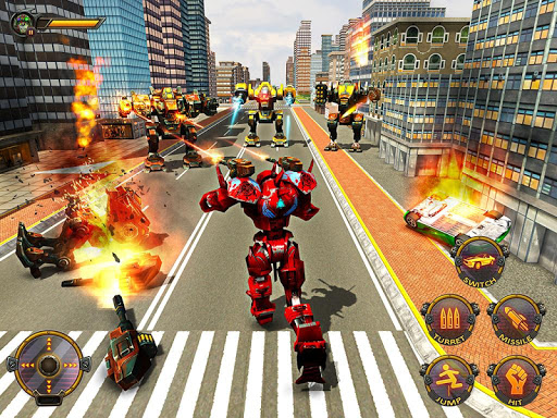 Robot Car War Transform Fight  screenshots 12
