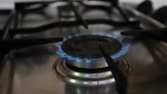 Gas en una cocina.