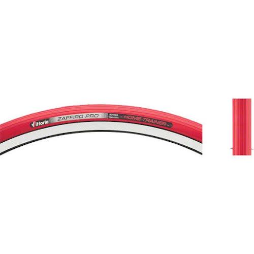 Vittoria Zaffiro Pro Home Trainer Tire: 700c 23mm Clincher Red Folding