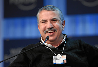 Photo: DAVOS/SWITZERLAND, 28JAN12 - Thomas L. Friedman, Columnist, Foreign Affairs, The New York Times, USA is captured during the session 'Pundits, Professors and their Predictions' at the Annual Meeting 2012 of the World Economic Forum at the congress centre in Davos, Switzerland, January 28, 2012.  Copyright by World Economic Forum swiss-image.ch/Photo by Moritz Hager