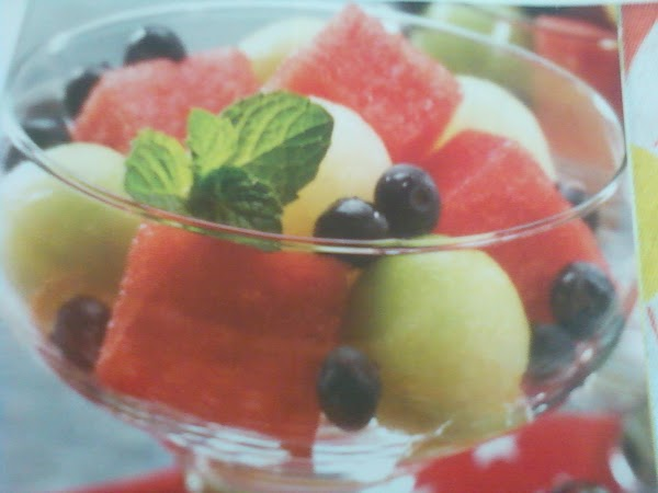 Place fruit in a large bowl; drizzle syrup over fruit.  Gently toss to...