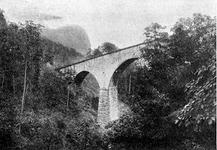 Photo: Vista do viaduto da grota funda