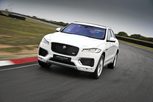 The F-Pace has genuine presence with that massive grille and gaping air ducts.