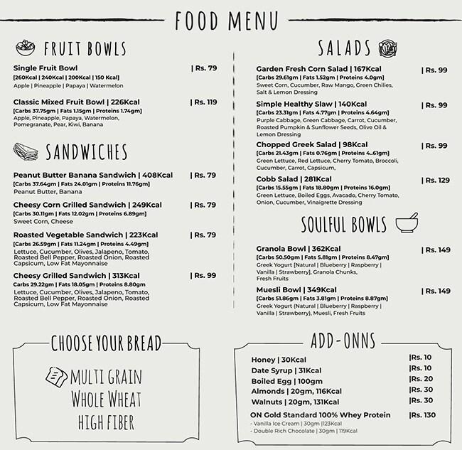 Prezzed Juicery menu 4