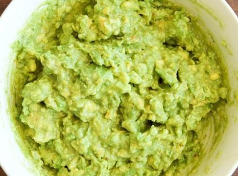 Blend both avocados, 2 tbsp of sour cream, 1/2 cup of salsa, & anything...