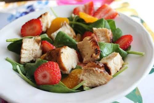 """Chicken and Strawberry Salad""""This light and fresh salad is delicious! With just..."""