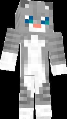 Grey Cat Minecraft Skin