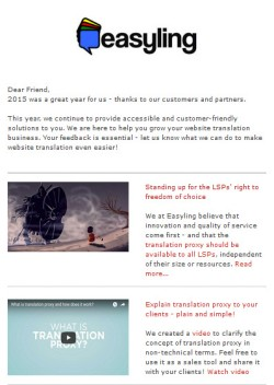 Easyling Newsletter January 2016
