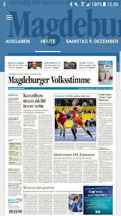 Volksstimme digital- screenshot thumbnail