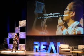 Photo: Sarah Kenderdine at #REAL2015 Main Stage