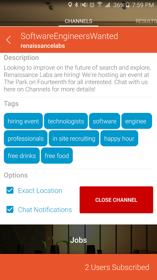 Channels - The Social Bulletin- screenshot