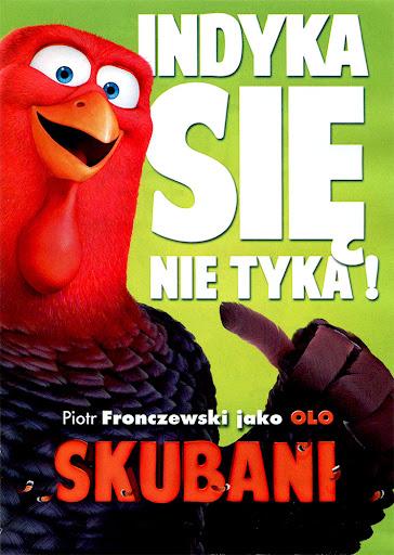Tył ulotki filmu 'Skubani'