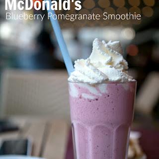 Copycat McDonalds Blueberry Pomegranate Smoothie