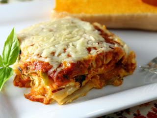 Roasted Butternut Squash Four Cheese Lasagna Recipe