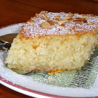 Greek Semolina Cake with Orange Syrup.