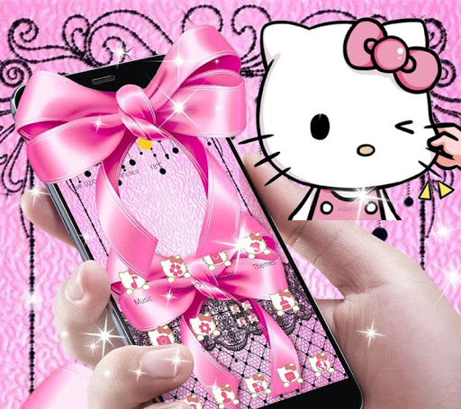 Pink Kitty Silken Bowknot Theme 1.1.1 screenshots 8