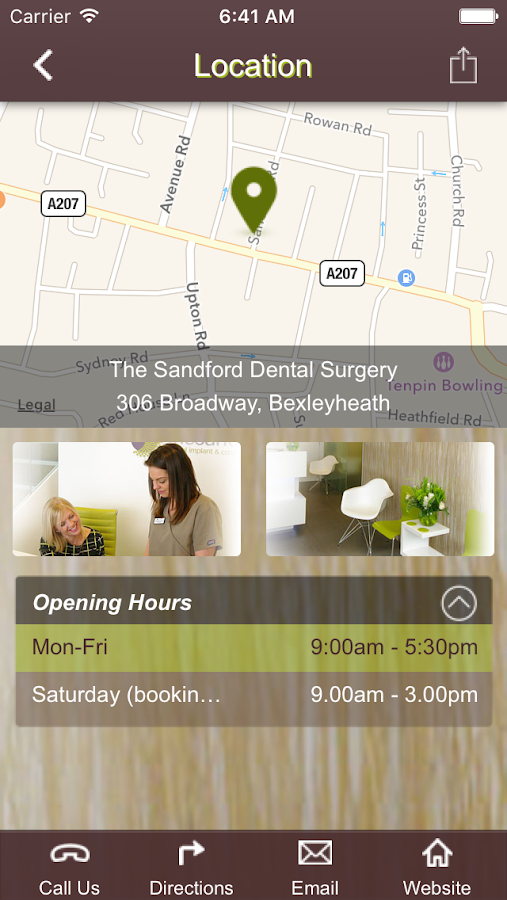 The Sandford Dental Centre- screenshot