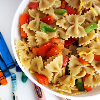 Whole Wheat Pasta Salad with Honey Mustard Vinaigrette