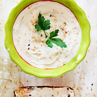 Cream Cheese Dip With Sesame Seeds and Soy Sauce.