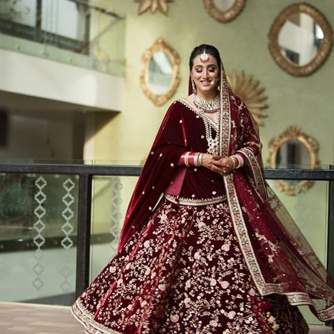 Bridal Lehenga in Maroon Colour